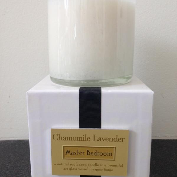 chamomile-lavender candle