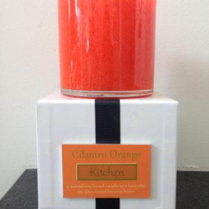 cilantro-orange candle