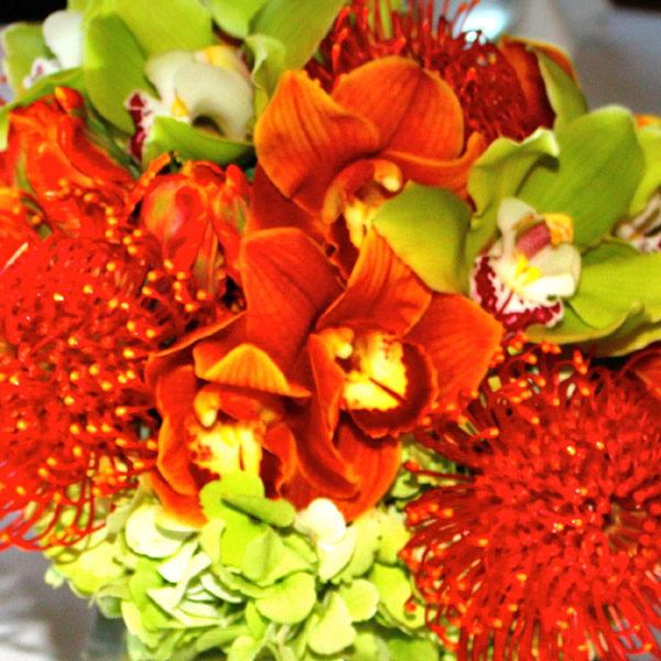 fierce floral arrangement
